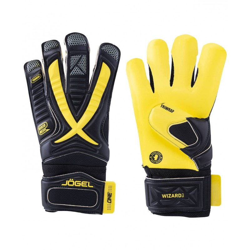 Вратарские перчатки Jögel ONE Wizard SL3 Roll-hybrid черные