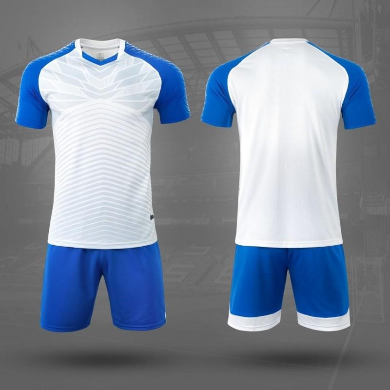 Детская форма футбольная NB DRYF бело/синяя