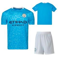 Детская форма Манчестер Сити 2020/21 домашняя голубая