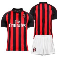 Детская форма Милан 2020/21 домашняя чёрно/красная