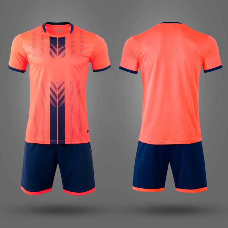 Детская фтбольная форма NB PSG оранжевая/т.синия